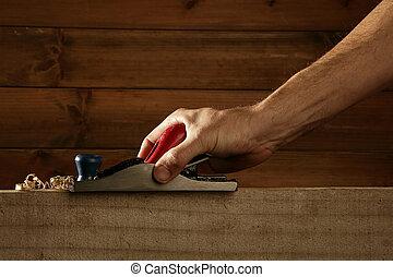 carpintero, planificación, madera, Cepilladora, herramienta,...