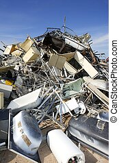 metal scrap recycle ecological factory environment