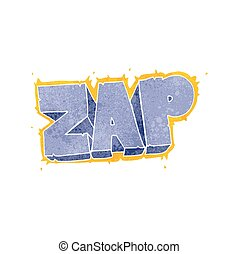 retro cartoon zap symbol - freehand retro cartoon zap symbol