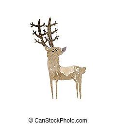 retro cartoon stag - freehand retro cartoon stag