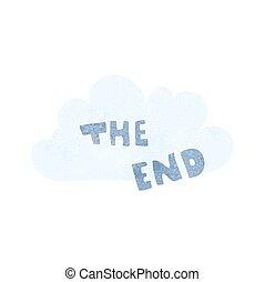retro cartoon The End symbol - freehand retro cartoon The...
