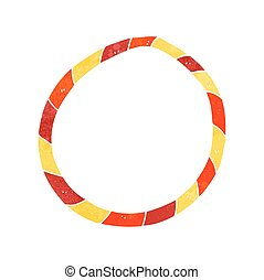 retro cartoon hula hoop - freehand retro cartoon hula hoop