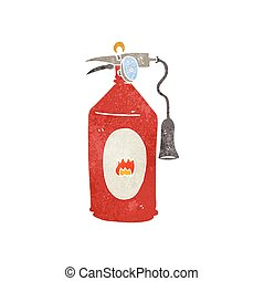 retro cartoon fire extinguisher - freehand retro cartoon...