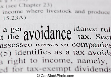 Avoidance - Enlarged word avoidance in context with tax