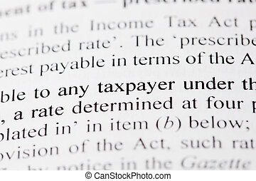 Taxpayer - The words any taxpayer on white paper