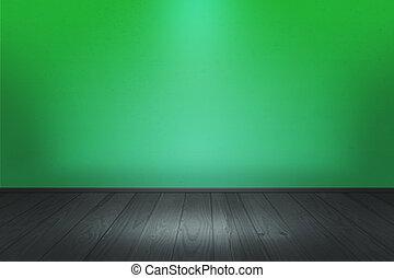 Green Spotlight Room Image