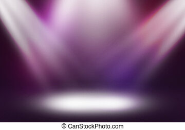 Illuminated Stage Spotlight Background