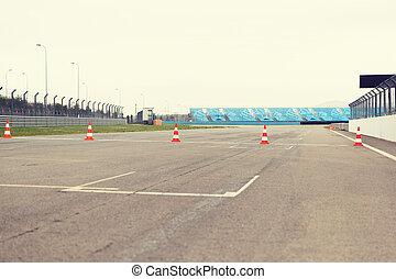 empty speedway on stadium - racing, motosports, extreme and...