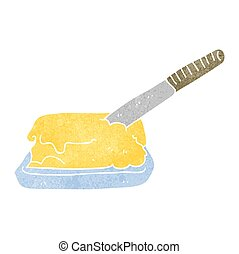 retro cartoon butter - freehand retro cartoon butter