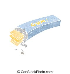 retro cartoon chewing gum - freehand retro cartoon chewing...
