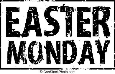 Easter monday rubber stamp
