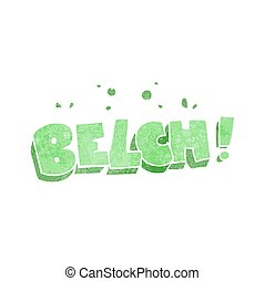 retro cartoon belch text - freehand retro cartoon belch text