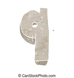 retro cartoon stone number nine - freehand retro cartoon...