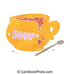 retro cartoon bowl of soup