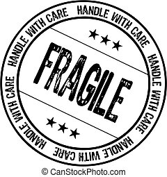 fragile rubber stamp