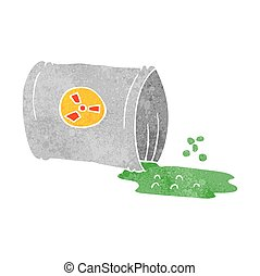 retro cartoon nuclear waste - freehand retro cartoon nuclear...