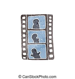 retro cartoon film strip - freehand retro cartoon film strip