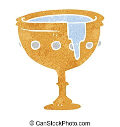 retro cartoon medieval cup