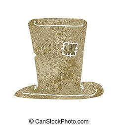 retro cartoon tramp top hat - freehand retro cartoon tramp...