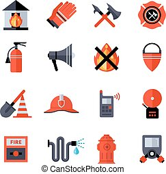 Fire Department Decorative Icons - Fire department...
