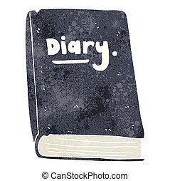 retro cartoon diary - freehand retro cartoon diary