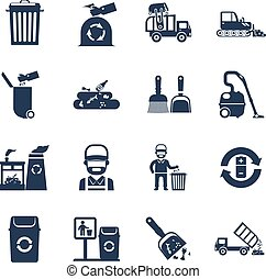 Garbage Disposal  Black Icons
