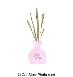 retro cartoon fragrance oil reeds - freehand retro cartoon...