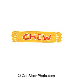 retro cartoon chew - freehand retro cartoon chew