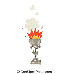 retro cartoon magic goblet - freehand retro cartoon magic...