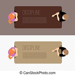 Discipline in the workplace. The mother communicates with...