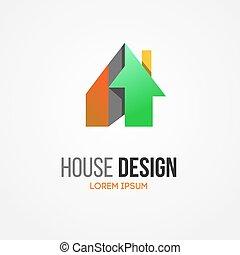 Abstract house home vector logo Building company logo...
