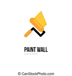 Paint roller logo icon design template. Vector paint roll...