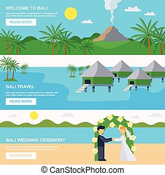 Bali Travel Banners Set - Bali travel banners set with...
