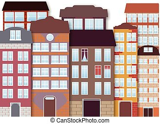 Cartoon city - Vector illustration of cartoon city Package...