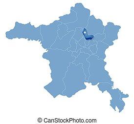 Map of Ankara - Pursaklar is pulled out - Map of Ankara with...