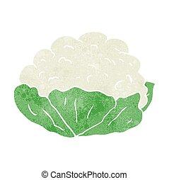 retro cartoon cauliflower - freehand retro cartoon...