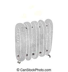 retro cartoon radiator - freehand retro cartoon radiator