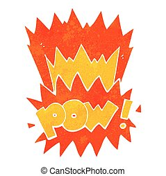 retro cartoon pow symbol - freehand retro cartoon pow symbol