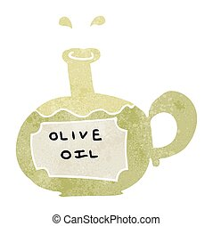 retro cartoon olive oil