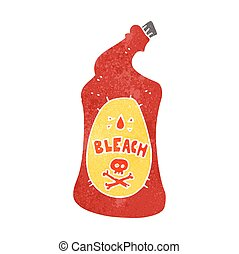 retro cartoon bleach bottle - freehand retro cartoon bleach...