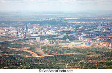 Astana, aerial. - View Astana, capital of Kazakhstan, from...