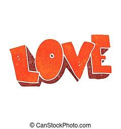 retro cartoon love symbol - freehand retro cartoon love...