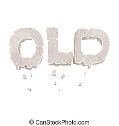 retro cartoon word old - freehand retro cartoon word old