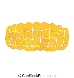retro cartoon corn cob - freehand retro cartoon corn cob
