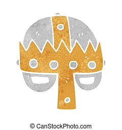 retro cartoon medieval helmet
