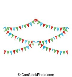 retro cartoon bunting flags - freehand retro cartoon bunting...