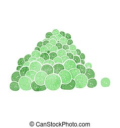 retro cartoon peas in pod - freehand retro cartoon peas in...