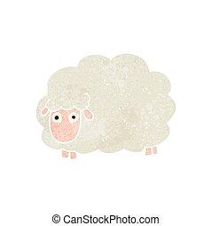 retro cartoon farting sheep - freehand retro cartoon farting...