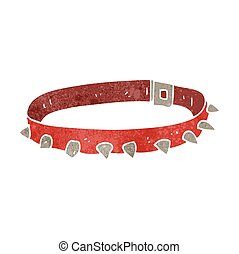retro cartoon dog collar - freehand retro cartoon dog collar