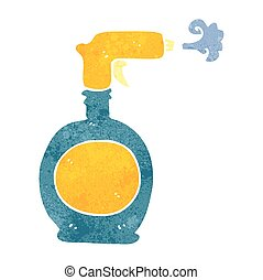 retro cartoon spray bottle - freehand retro cartoon spray...